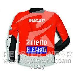Ducati Motorbike Racing Leather Jacket (Team 2018) MOTO GP All Size Avaliable