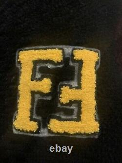 Fendi Varisty Leather/ Sheepskin Kids Jacket Age 5-6