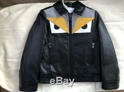 Fendi kids childrens boys leather jacket coat size 6