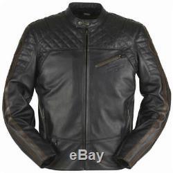 Furygan Legend Motorcycle Motorbike Leather Touring Soft Jacket Black Mens L