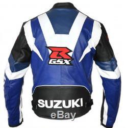 GSXR SUZUKI Mens Racing Biker Motorbike Leather Jacket Motorcycle Leather Jacket