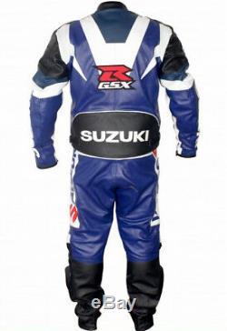 GSXR SUZUKI Racing Biker Leather Suit Motorbike/Motorcycle Leather Jacket Pant