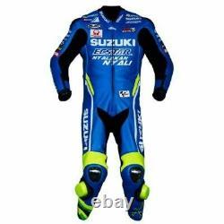 GSXR Suzuki Motorbike Suit Leather Motorcycle Jacket Pant Biker Racer Protective