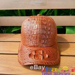 Genuine Crocodile/Alligator Skin Hat Unique Baseball Adjustable Hat Cap