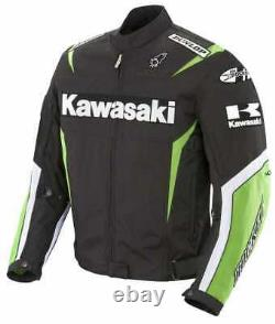 Green/Black Ninja Motorbike Leather Jacket Motorcyclist Cowhide Jacket Suit