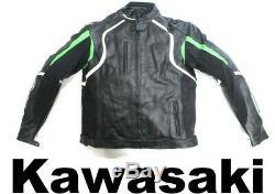 Green Kawasaki Motorbike Motorcycle Leather Jacket Trousers Suit Cowhide XL UK