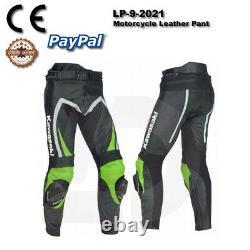 Green Motogp Motorcycle Motorbike Cowhide Leather Racing Bikers Pant