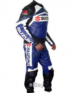 Gsxr Suzuki Motorcycle Leather Suit Men Moto Gp Motorbike Leather Jacket Trouser