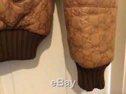 Gucci boys quilted Genuine Leather Bomber Jacket. Age 12. Vey Rare