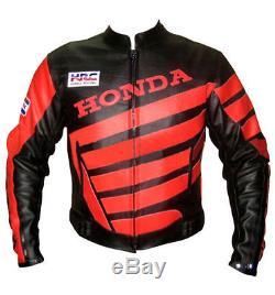 HONDA-HRC Motorcycle/Motorbike Leather Jacket Racing Biker, CE-ARMOUR-MotoGp(Rep)