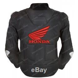 HONDA Racing Biker Motorbike Leather Jacket Men MOTOGP Motorcycle Leather Jacket