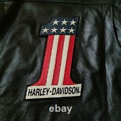 Harley-Davidson #1 Men's Leather Jacket, Size L Black