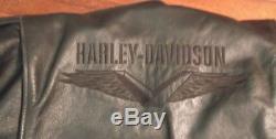 Harley Davidson Biker Jacket Leather Size L