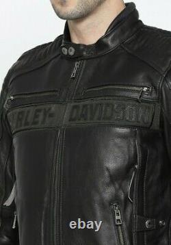 Harley Davidson Biker Racing Motorcycle CE Armor Customized Leather Jacket