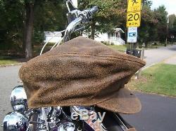 Harley Davidson Billings Leather Hat Cap Scarf News Boy