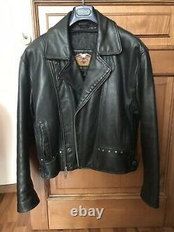 Harley Davidson Men 90s Fat Boy Leather Biker Jacket 98117-91VM + Snapback Cap
