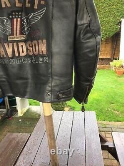 Harley Davidson Men's #1 Genuine Classics Leather Jacket 98121-17EM Large