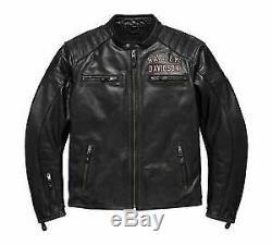 Harley Davidson Men's #1 Genuine Classics Leather Jacket, Size LARGE 98121-17EM