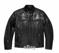 Harley Davidson Men's #1 Skull Leather Jacket, Black, 98128-17EM, Medium