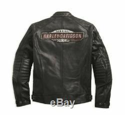 Harley-Davidson Men's Perforated Leather Cruiser Jacket 97183-17EM