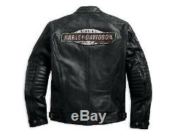 Harley Davidson Mens Cruiser Perforated Leather Jacket Black 97183-17EM, Medium