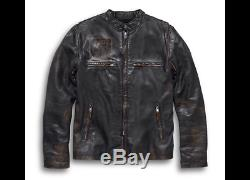 Harley Davidson Mens Speed Distressed Leather Jacket 98004-18VM