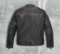 Harley Davidson Mens Urban Black Leather CE Approved Jacket
