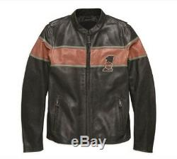 Harley Davidson Mens Victory Lane CE Approved Leather Jacket Black