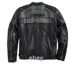 Harley Dividson Motorbike Original Cowhide Leather Jacket CE Approved Protection