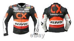 Honda Motorcycle/Racing Jacket Men Leather Jacket Motorbike biker Jacket ARMOUR