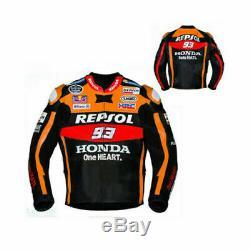 Honda Repsol Leather Marc Márquez Motorcycle Jacket Black All Sizes