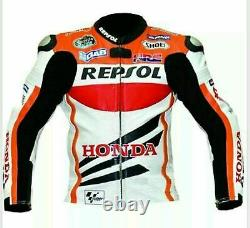 Honda Repsol Motorbike/Motorcycle Leather Jacket In Cowhide/Protections/All Size