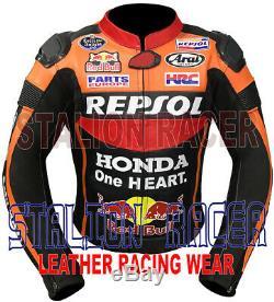 Honda Repsol Redbull Motogp Motorbike Racing Cowhide Leather Jacket