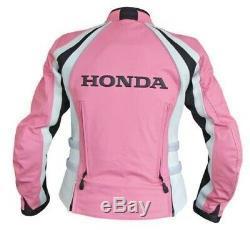 Honda Repsol Women Motorbike Motorcycle Racing Leather Jacket Custom Made