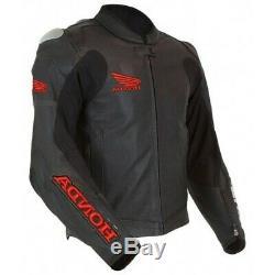 Honda Style Motorcycle Leather Jacket Motorbike Racing Leather Biker Jackets CE