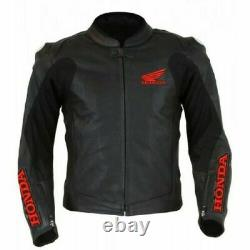 Honda Wing Motorbike/Motorcycle Leather Jacket In Cowhide/Protections/All Size