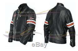 House MD style leather Jacket doctor Gregory Motorcycle Jacket with armour