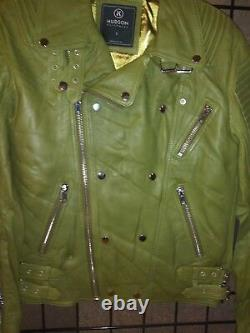 Hudson Outerwear Leather Jacket Brand New with Tags Size Small in Olive Green