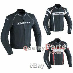 IXON Fueller Cow Leather Motorcycle Motorbike Winter Jacket CE Armour Clearance