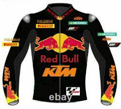KTM 2021 Men Motorbike Leather Jacket Motorcycle Bikers Racing Sports Jackets CE