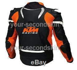 KTM Custom motorbike motorcycle biker racing leather jacket all sizes