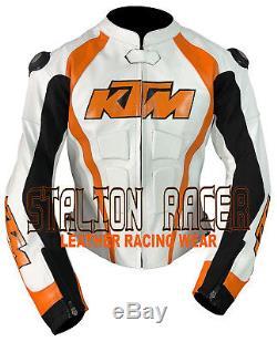 KTM MotoGp Motorbike/Motorcycle Racing Cowhide Leather Jacket/Chaquetas de cuero
