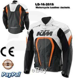KTM Motorbike Motorcycle Rider Leather Jacket LD-16-2019 (US 38-48)