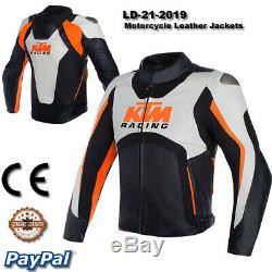 KTM Motorbike Motorcycle Rider Leather Jacket LD-20-2019 (US 38-48)