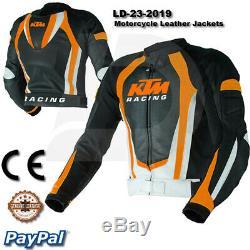 KTM Motorbike Motorcycle Rider Leather Jacket LD-23-2019 (US 38-48)