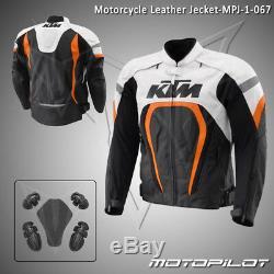 KTM Motorbike Motorcycle Rider Leather Jacket MPJ-067 (US 38,40,42,44,46,48)