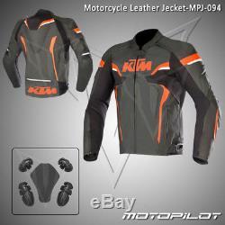 KTM Motorbike Motorcycle Rider Leather Jacket MPJ-094 (US 38,40,42,44,46,48)