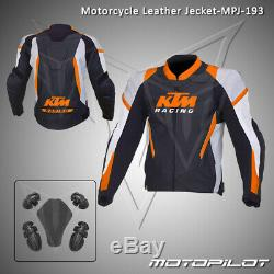 KTM Motorbike Motorcycle Rider Leather Jacket MPJ-193 (US 38,40,42,44,46,48)