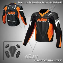 KTM Motorbike Motorcycle Rider Leather Jacket MPJ-1-083 (US 38,40,42,44,46,48)