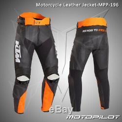 KTM Motorbike Motorcycle Rider Leather Pant MPP-196 (US 38,40,42,44,46,48)